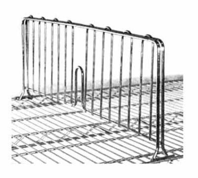 "Metro DD14BL Super Erecta® Shelf Divider - 8"" x 14"", Snap-In"