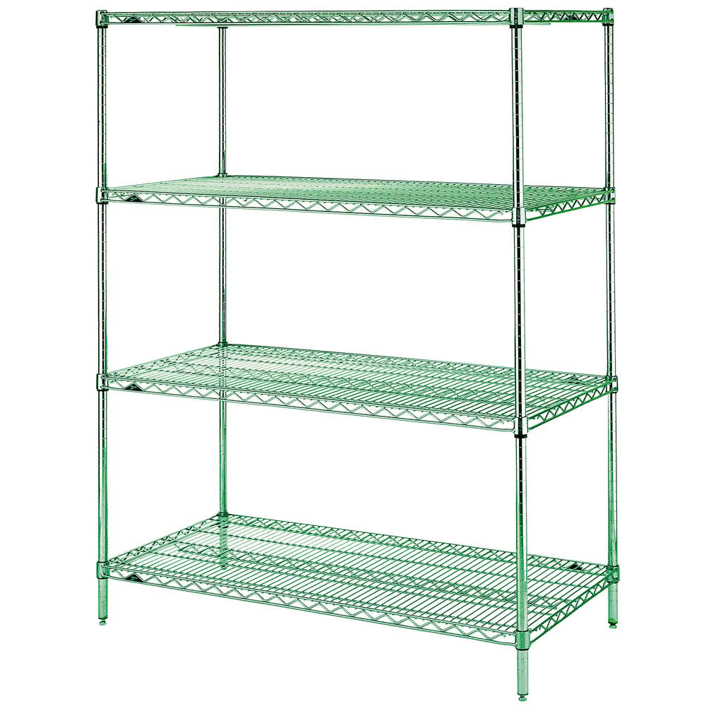 "Metro EZ2460NK3-4 Super Erecta® Epoxy Coated Wire Shelving Unit w/ (4) Levels, 60"" x 24"" x 74"""
