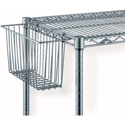 "Metro H209C SmartWall G3 Storage Basket for Wire Shelving - 13.38"" x 5"" x 7"", Chrome"