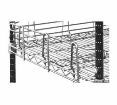 "Metro L24N-4C Super Erecta® Shelf Ledge - 24"" x 4"", Chrome"