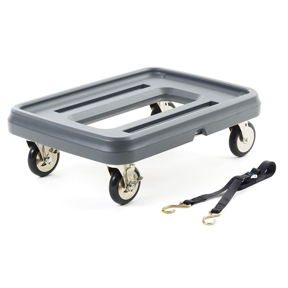 Metro MLD1 Mightylite™ Pan Carrier Dolly w/ 350 lb Capacity - Polyethylene, Gray