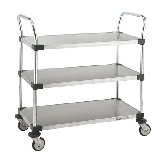 Metro MW208 3 Level Stainless Steel Utility Cart w/ 375 lb Capacity