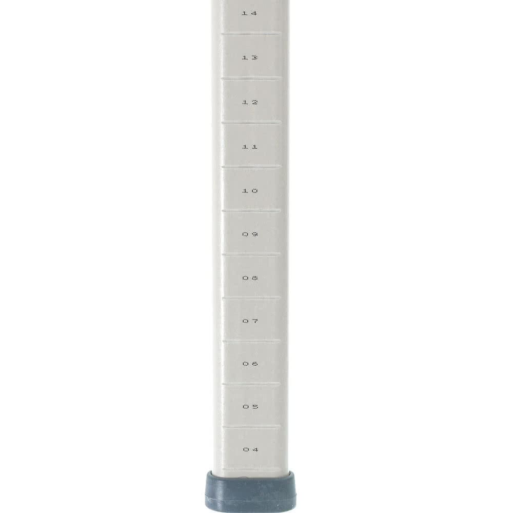 "Metro MX54UP 53.19"" Shelving Post w/ 1"" Grooved Increments, Polymer"