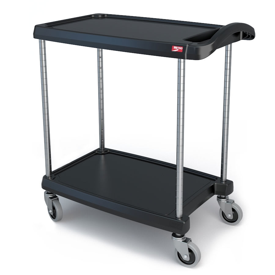 Metro MY1627-24BL 2-Level Polymer Utility Cart w/ 300-lb Capacity, Marine Ledges