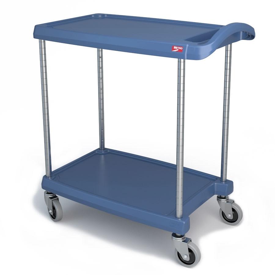 Metro MY1627-24BU 2 Level Polymer Utility Cart w/ 300 lb Capacity, Marine Ledges