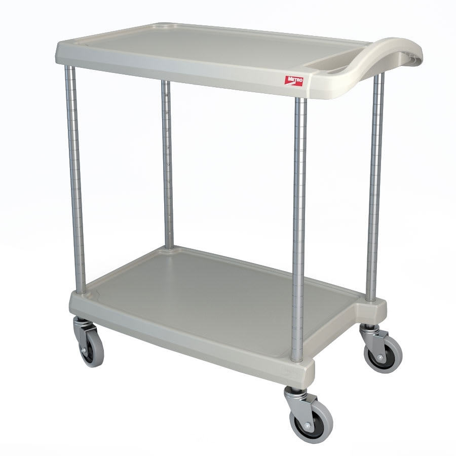 Metro MY1627-24G 2-Level Polymer Utility Cart w/ 300-lb Capacity, Marine Ledges