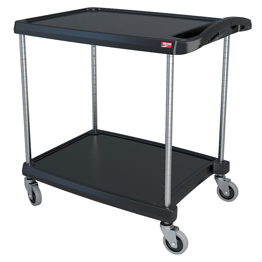 Metro MY2030-24BL 2 Level Polymer Utility Cart w/ 300 lb Capacity, Marine Ledges