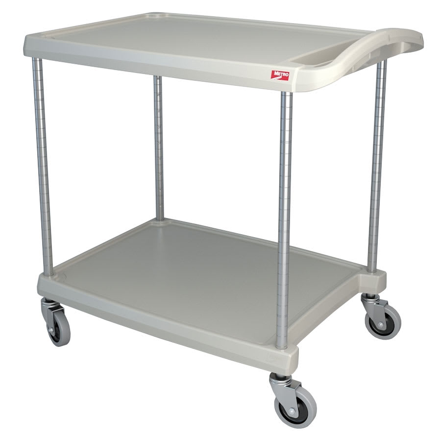 Metro MY2030-24G 2-Level Polymer Utility Cart w/ 300-lb Capacity, Marine Ledges