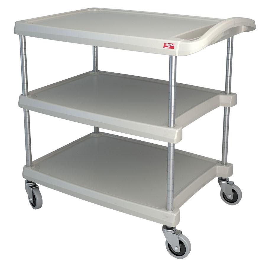 Metro MY2030-34G 2-Level Polymer Utility Cart w/ 300-lb Capacity, Marine Ledges