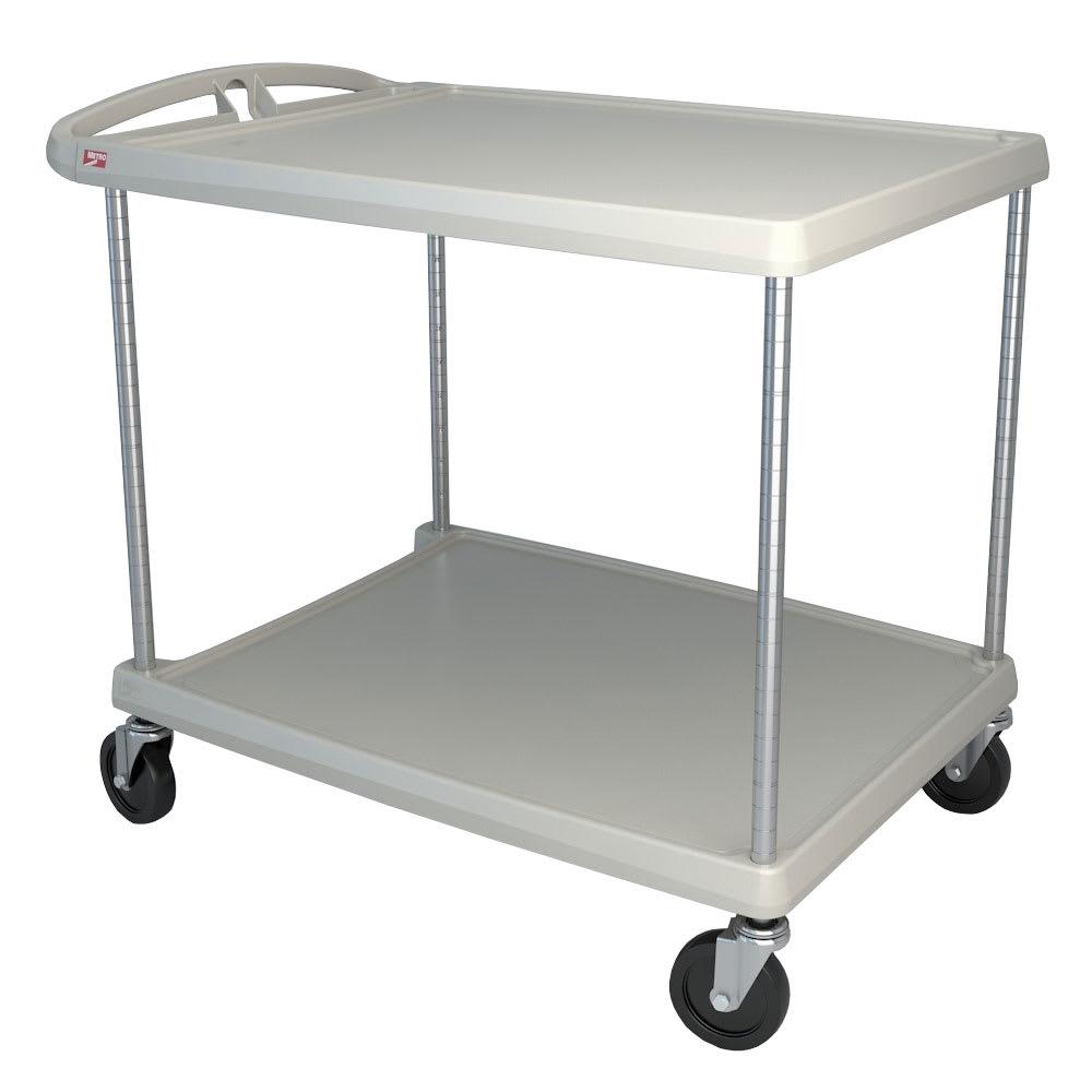 Metro MY2636-25G 2-Level Polymer Utility Cart w/ 300-lb Capacity, Marine Ledges