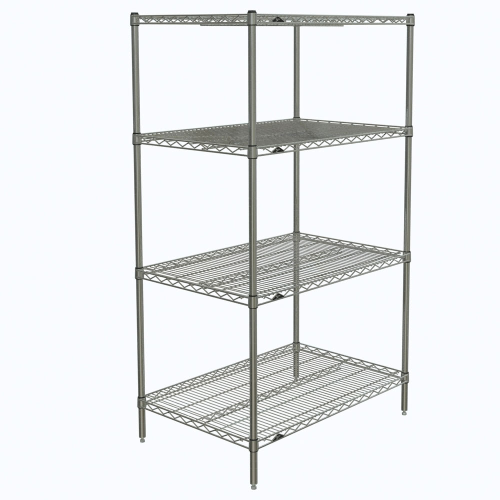 "Metro N436C Super Erecta® Chrome Wire Shelving Unit w/ (4) Levels, 36"" x 21"" x 63"""