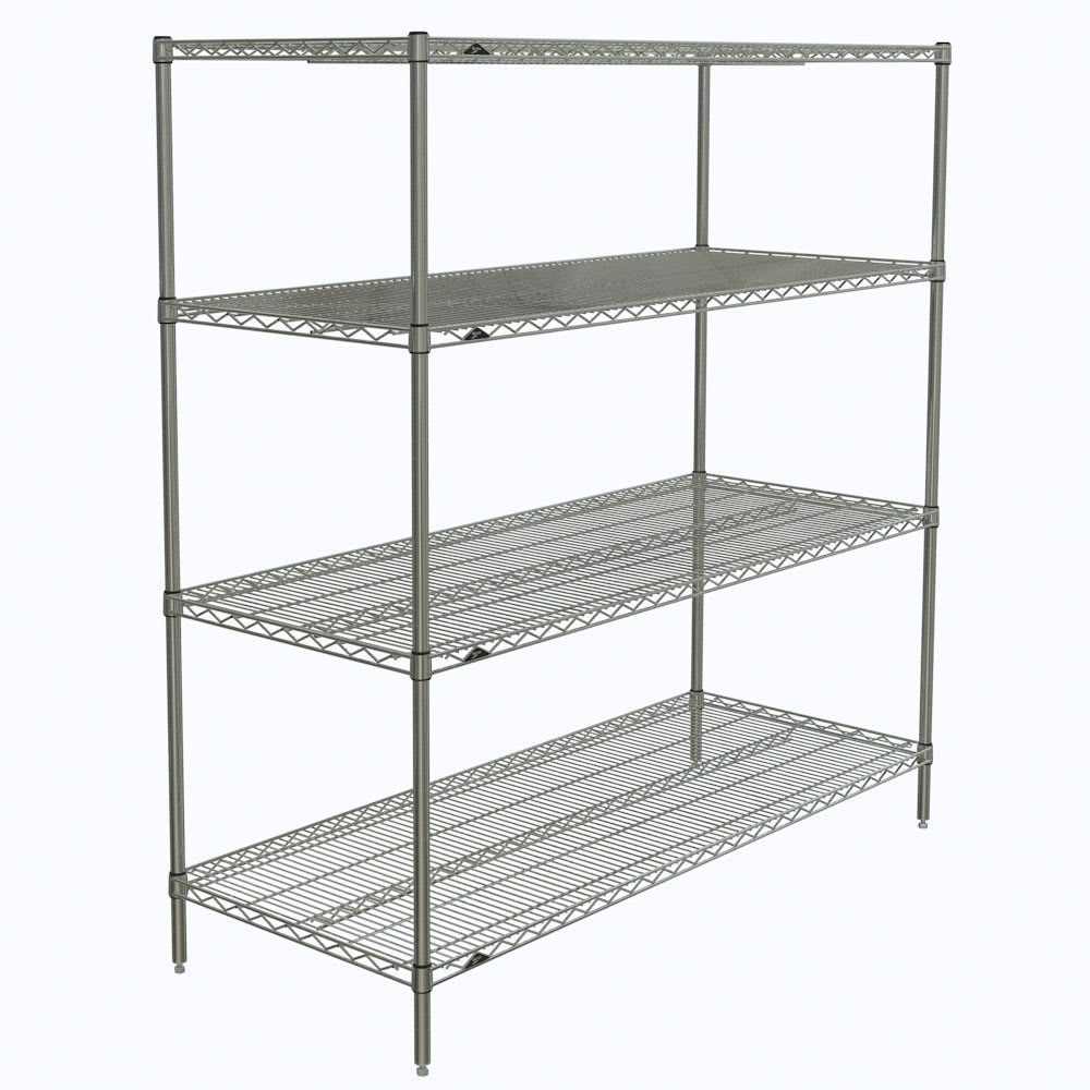 "Metro N566C Super Erecta® Chrome Wire Shelf Kit - 60""W x 24""D x 63""H"