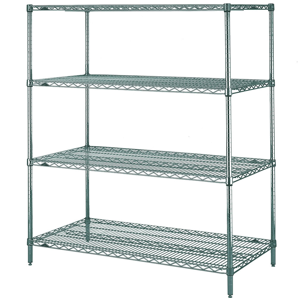 "Metro N566K3 Super Erecta® Epoxy Coated Wire Shelf Kit - 60""W x 24""D x 63""H"