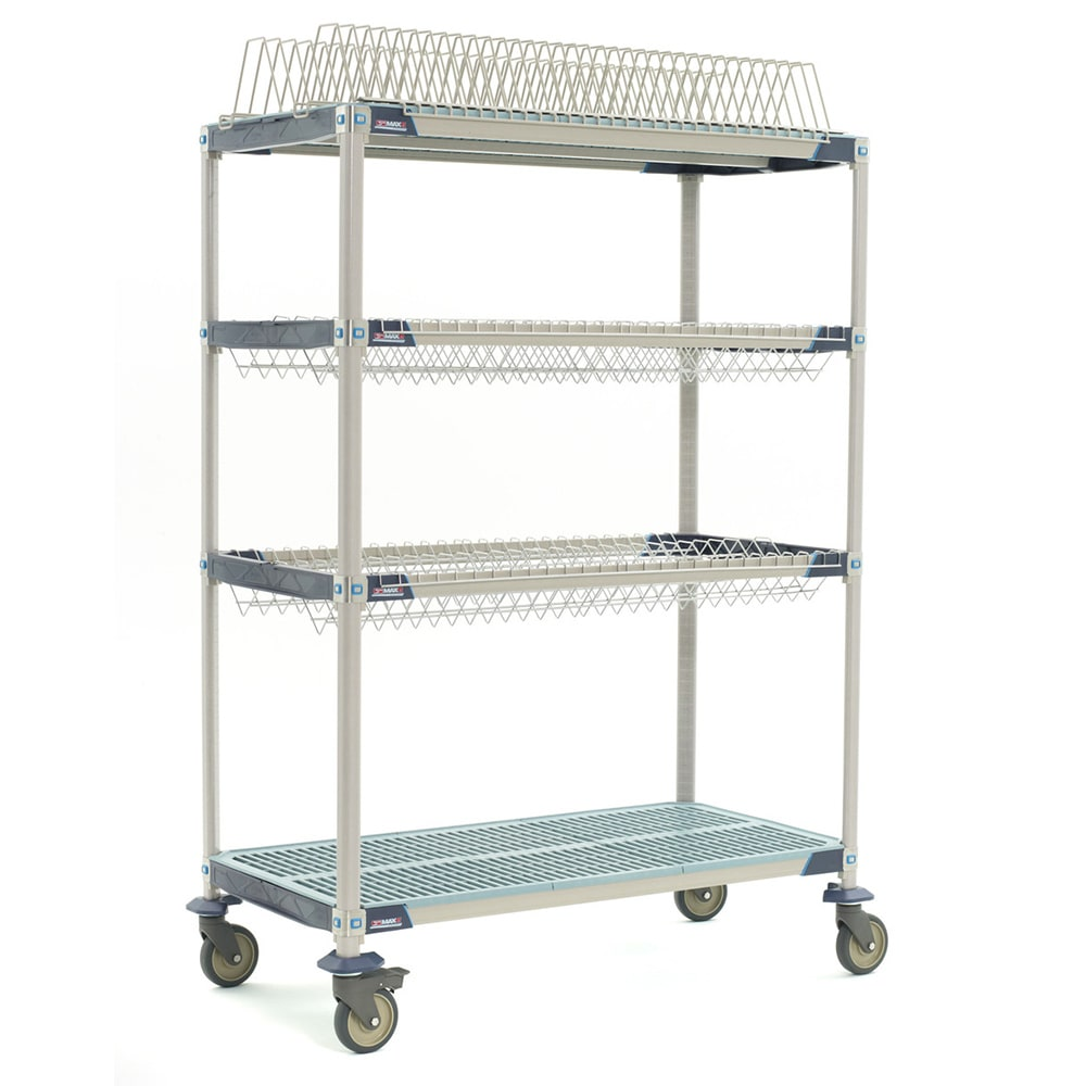 "Metro PR48VX3 4 Tier Mobile Drying Rack w/ 2 Drop-Ins, 26"" x 50"" x 68"""