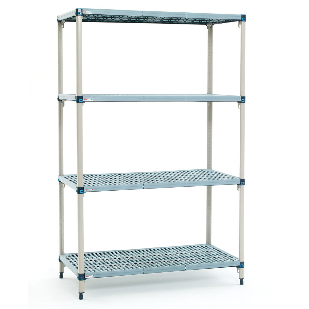 "Metro Q556G3 MetroMax Q™ Epoxy Coated Wire Shelving Unit w/ (4) Levels, 48"" x 24"" x 63"""