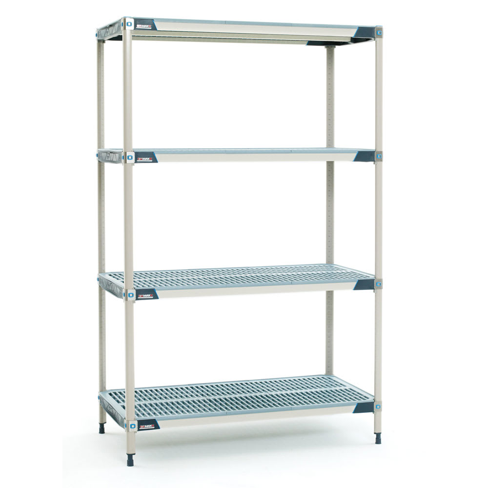 "Metro X556GX3 MetroMax i® Polymer Louvered Shelf Kit - 48""W x 24""D x 63""H"