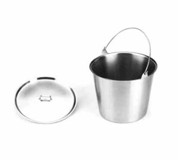 Polar Ware 12N 13-qt Stainless Steel Utility Pail with Bail Handle