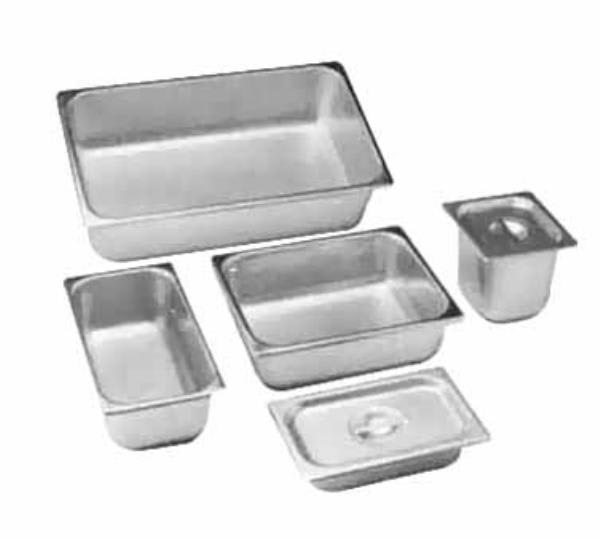 Polar Ware 1311-6 Steam Table Pan Cover, 1/2 Size, Slotted w/Handle, Stainless Steel