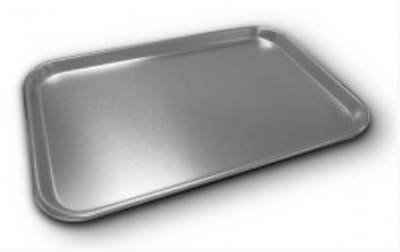 Polar Ware 3612 Fourth Size Bun Pan with Rolled Bead, 13 x 9-1/2 x 1/2 in, Aluminum