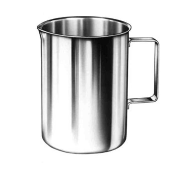 Polar Ware 4W Pitcher, 4 qt., Straight-Sided, Stainless Steel