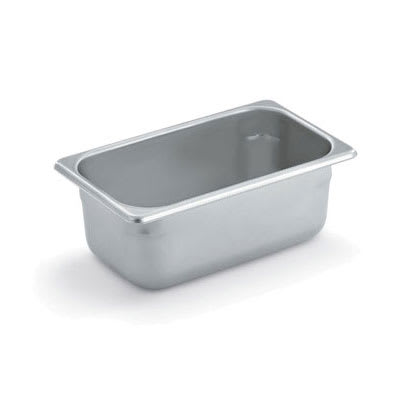 Polar Ware E10064 Steam Table Pan, 1/4 Size, 4 in Deep, 22 Gauge Stainless Steel, NSF