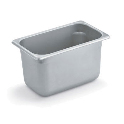 Polar Ware E10066 Steam Table Pan, 1/4 Size, 6 in Deep, 22 Gauge Stainless Steel, NSF