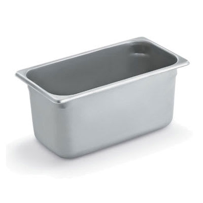 Polar Ware E12066 Steam Table Pan, 1/3 Size, 6 in Deep, 22 Gauge Stainless Steel, NSF
