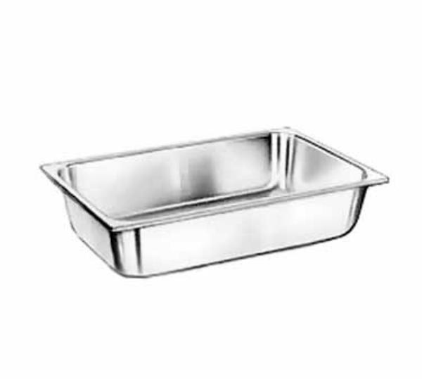 Polar Ware E1650 Deli Pan, Full Size, 2-1/2 in Deep, 22 Gauge Stainless Steel, NSF