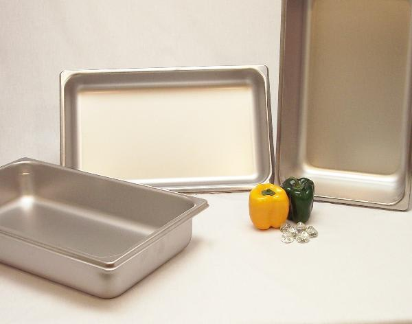 Polar Ware IE112 The Edge Full Size Steam Table Pan, 2-1/2 in Deep, Stainless Steel