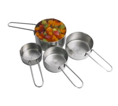 Polar Ware T1245 Stainless Measuring Cup Set: 1, 1/2, 1/3, & 1/4 Cups