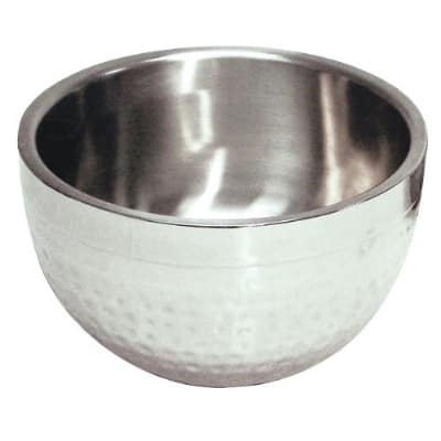 Polar Ware T705DW 8 qt Hammered Double Wall Bowl, 12-1/2 in Diameter, Stainless Steel
