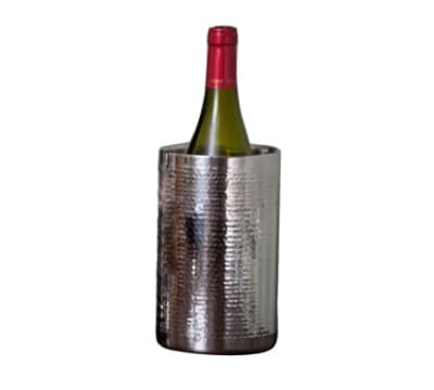Polar Ware T743DW Wine Chiller, 4-1/2 x 7-1/2, Hand Hammered Stainless
