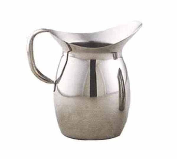 Polar Ware T9203 3-qt Bell Shaped Water Pitcher w/ Mirror Finish, Stainless