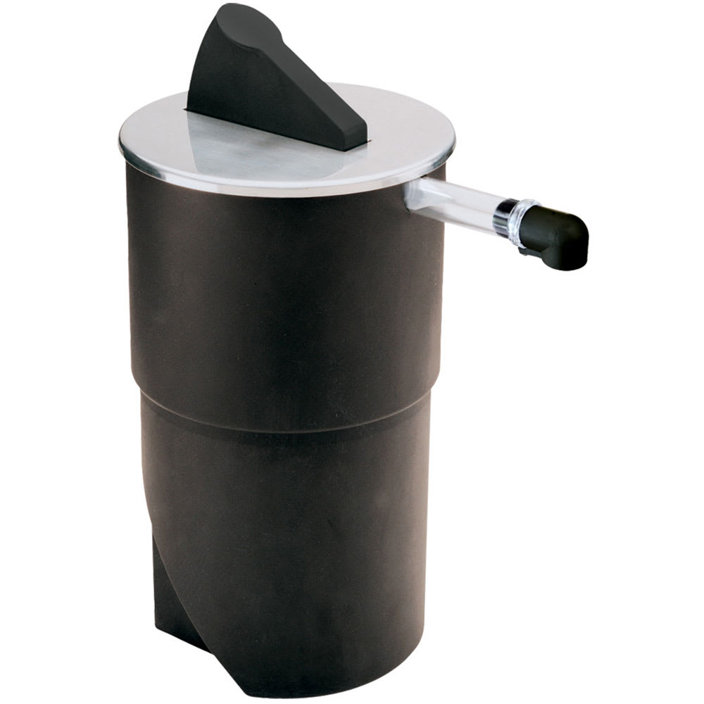 Server 07010 1.5 Gallon Round Dispenser, Portion Control For 1 Pouch, Black