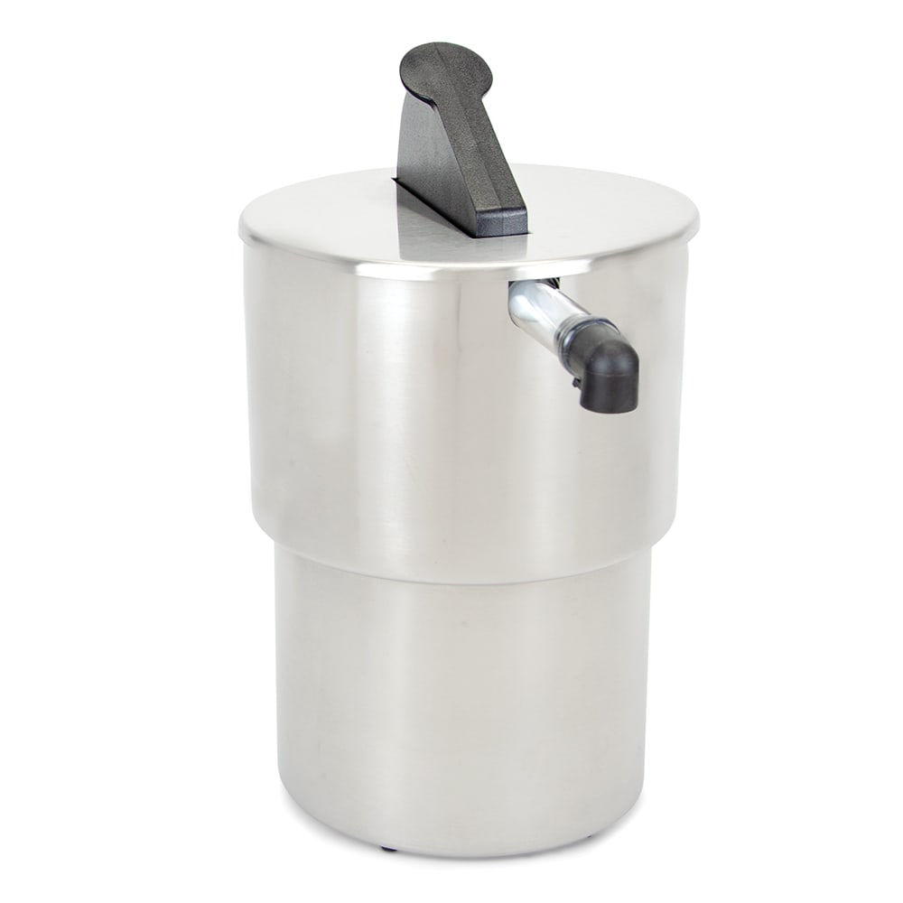 Server 07030 1.5 Gallon Round Dispenser, Portion Control For 1 Pouch, Stainless