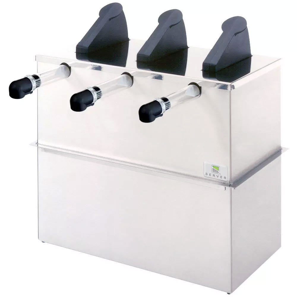 Server 07050 Drop In 3 Pump Dispenser For 3 Pouches, Stainless Base