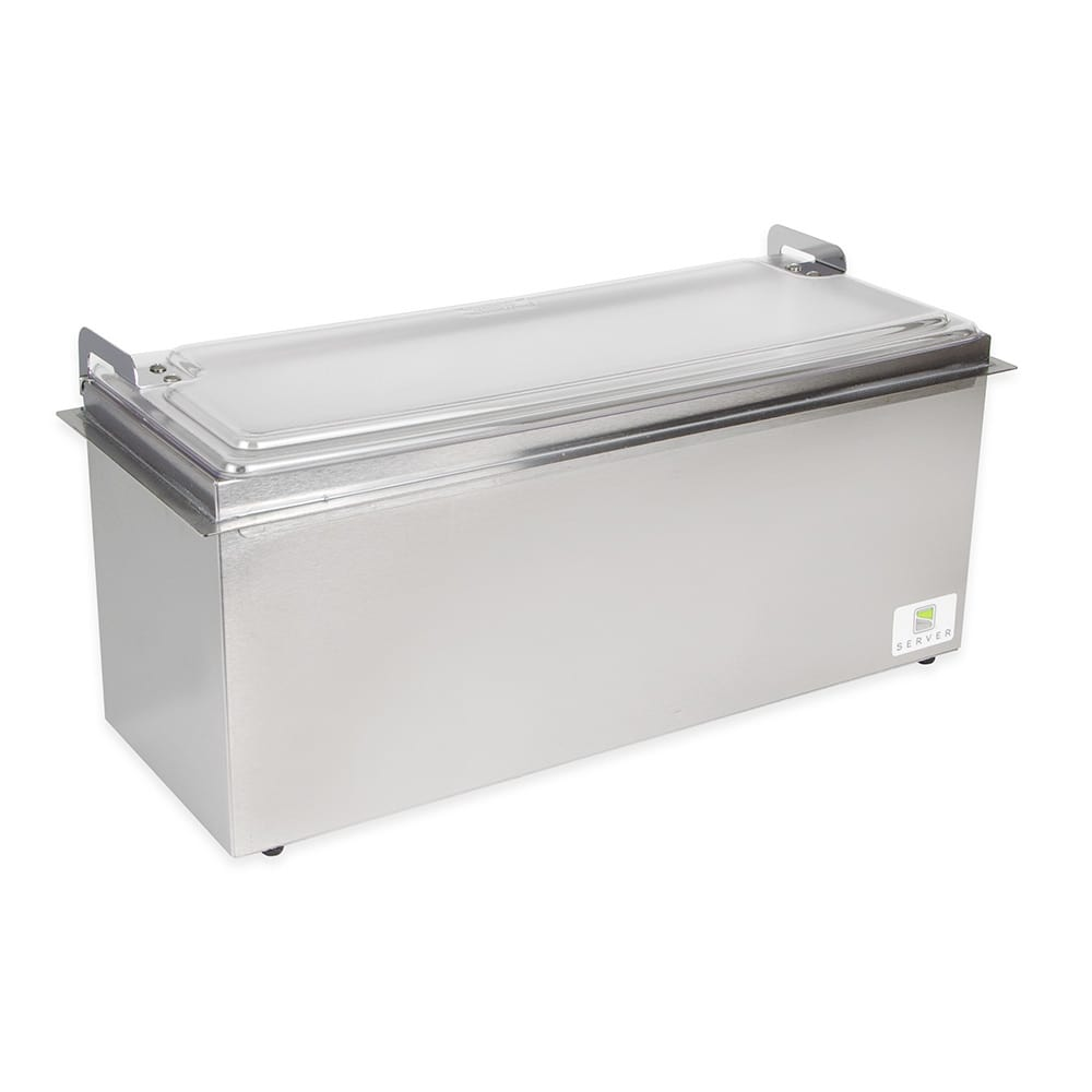 Server 67160 Drop-In Insulated Server Holds (3) Sixth-Size Pans, Stainless