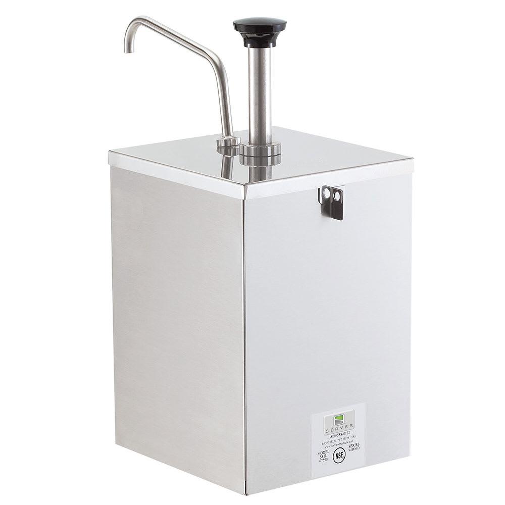 Server 67590 Pump Style Condiment Dispenser w/ (1) 1-oz/Stroke, Stainless