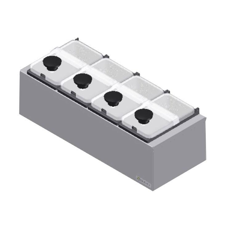 Server 67890 Dipper Style Condiment Dispenser w/ (4) Ninth-Size Jars