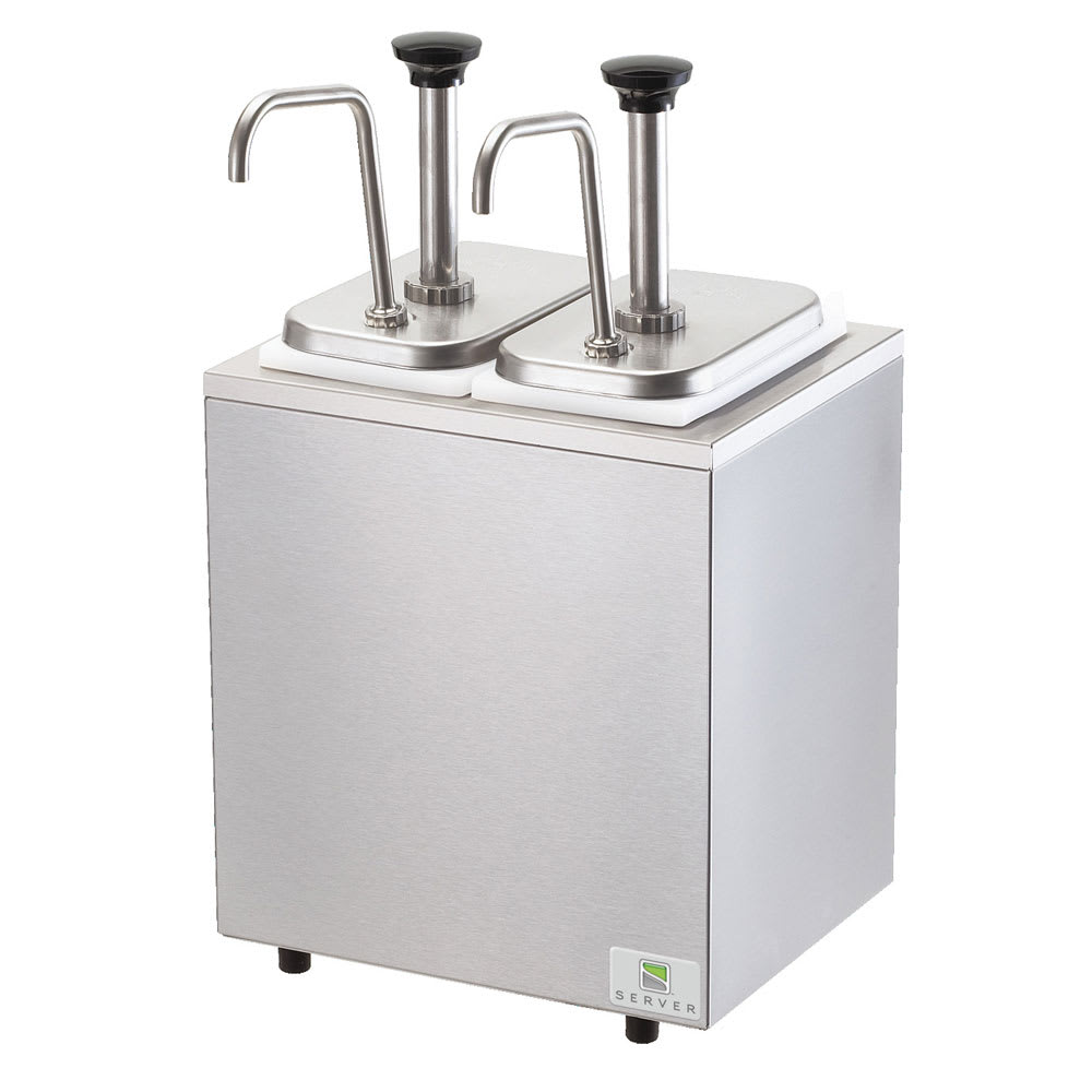 Server 79890 Pump Style Condiment Dispenser w/ (2) 1.25 oz/Stroke, Stainless