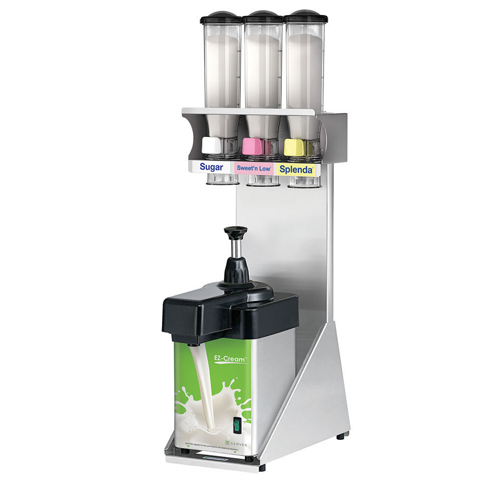 Server 80106 Beverage Station w/ Dairy & Sweet Dispenser, Stainless