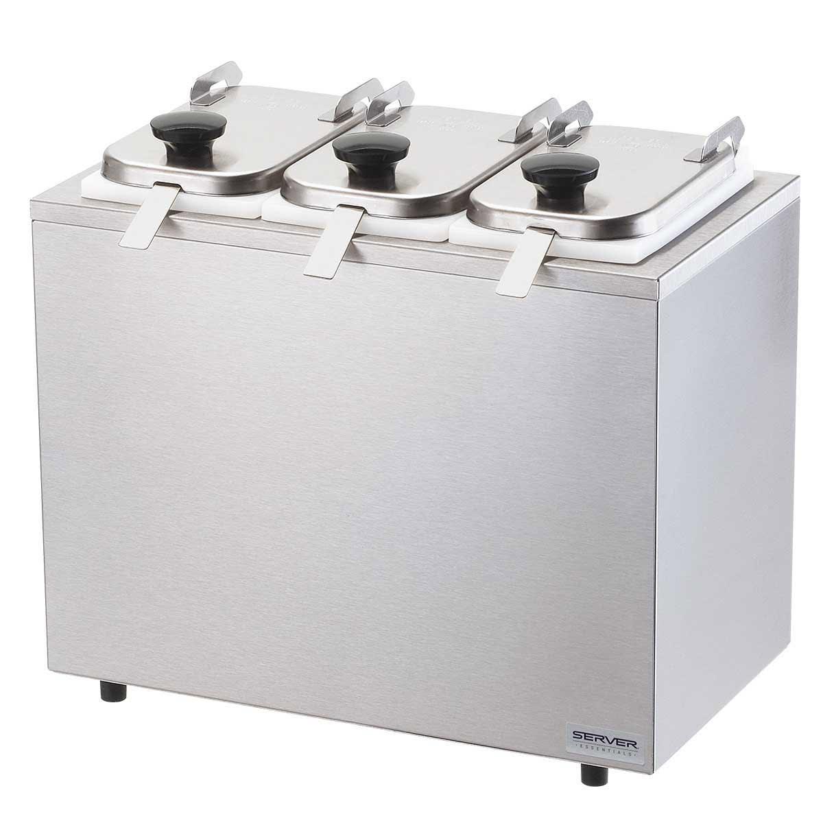 Server 80510 Dipper-Style Topping Dispenser w/ (3) 1-oz Ladles, Stainless
