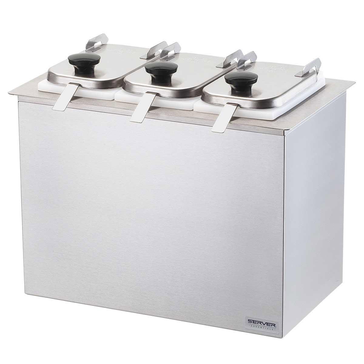 Server 80520 Dipper-Style Topping Dispenser w/ (3) 1 oz Ladles, Stainless