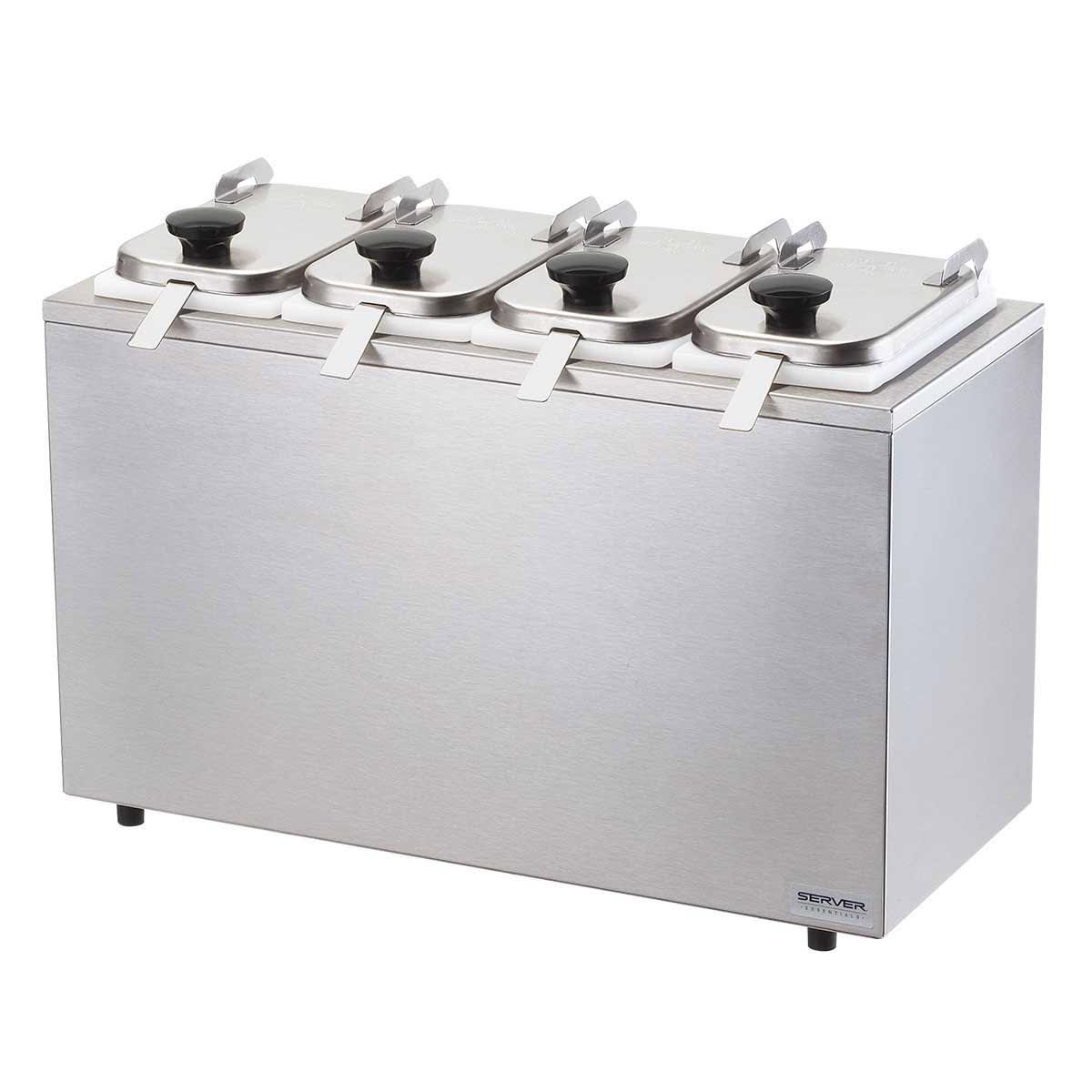 Server 80540 Dipper-Style Topping Dispenser w/ (4) 1-oz Ladles, Stainless