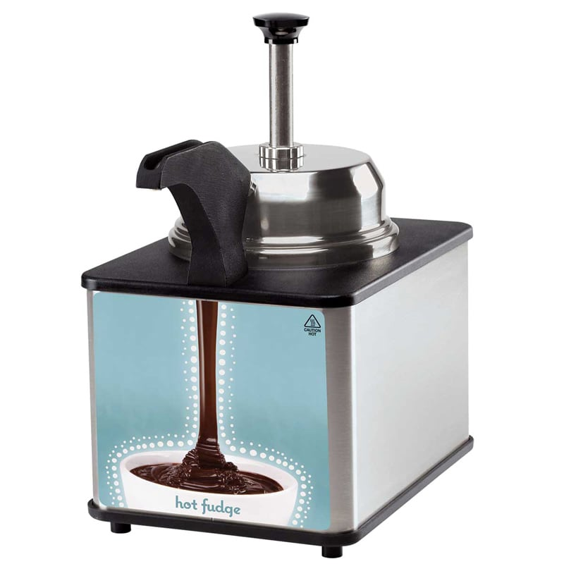 Server 81140 Food Server - Pump, Spout Warmer, For Remthermalization. 3 qt Stainless Steel Jar
