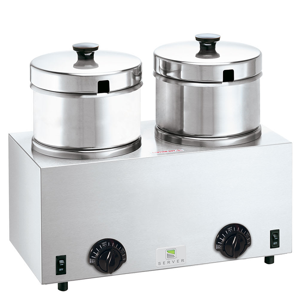 Server 81200 (2) 5-qt Countertop Soup Warmer w/ Thermostatic Controls, 120v
