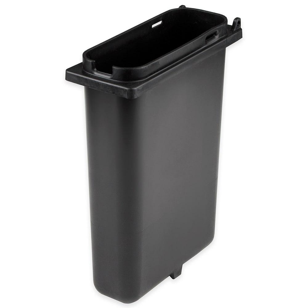 Server 83159 2 qt Slim Fountain Jar w/ Notch for Ladle, Polypropylene, Black