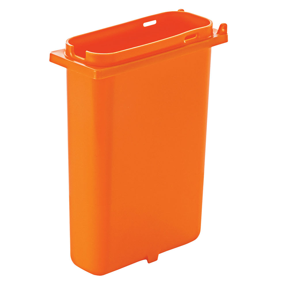 Server 83162 2-qt Slim Fountain Jar w/ Notch for Ladle, Polypropylene, Orange