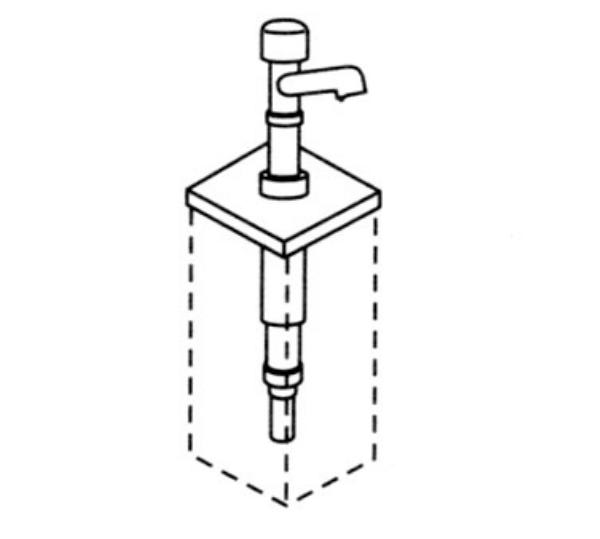 Server 83460 Condiment Syrup Pump Only w/ 1-oz/Stroke Capacity, Stainless