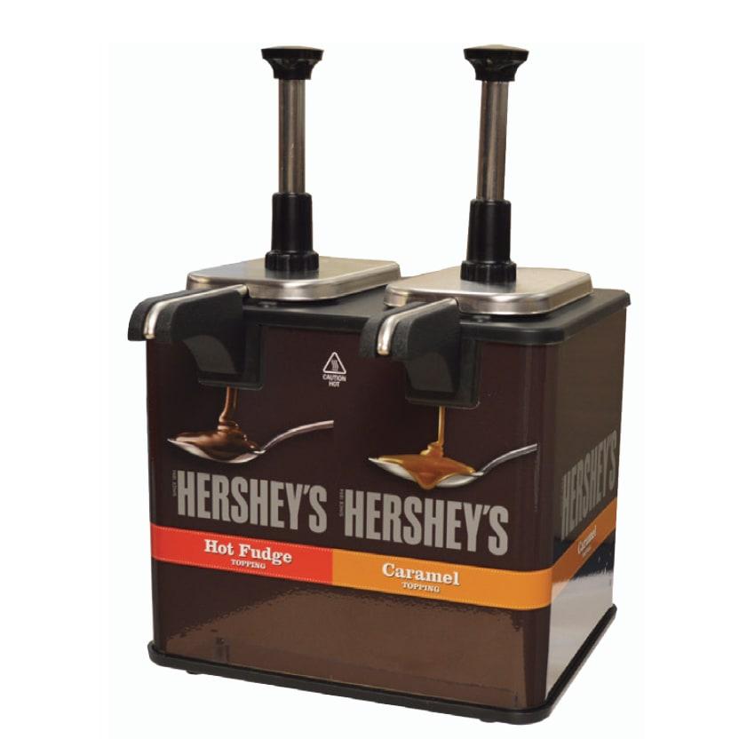Server 84969 Hershey's Caramel and Fudge EZ-Topper™ Warmer w/ (2) 1-oz Pumps, 120v